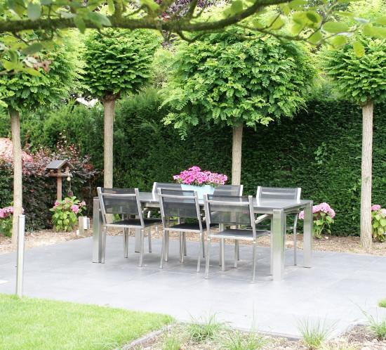 de Buitenkamer tuinontwerp, Grave, roze tuin in Millingen 6